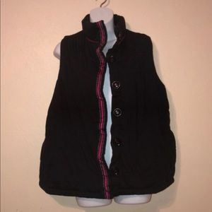 CJ Banks navy blue puffer vest 1X